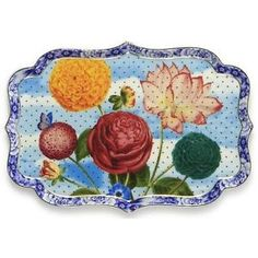 PIP-STUDIO-ROYAL-COLLECTION-Platte-26cm-Royal-Collection-TRAY-FLOWERS-26cm