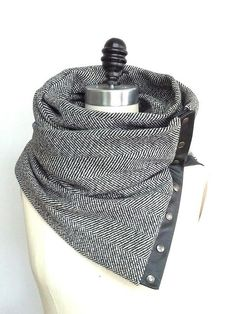 Reserved for Juliet  Herringbone wool circular by System63 on Etsy, $75.00