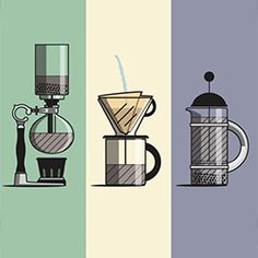 An Instant Guide to Making Coffee - beautifully animated piece from &Orange Motion Design. From pour over to chemex to french press, areopress, vacuum pot, and moka pot.