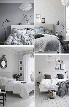 Bedrooms · Grey · White People · Decoration Home · Deco. Inspiración  Dormitorios. A Trendy Life. #deco #inspiracion #inspiraciondeco #