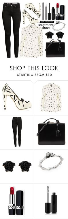 """""""Panda Heels"""" by princess13inred ❤ liked on Polyvore featuring Charlotte Olympia, Topshop, Mark Cross, Versace, Stephanie Deydier, Christian Dior, Marc Jacobs and Burberry"""