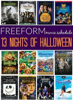13 Nights of Halloween: Family Movie Schedule | Movie schedule ...