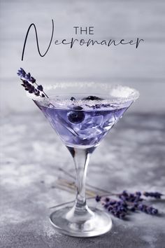 A bit like a Martini but with added wow factor! A boozy punch of vermouth, creme de violette, absinthe, gin, and triple sec - it's strong enough to wake the dead! A bit like a Martini but with added wow - or should that be kapow? Tonic Cocktails, Purple Cocktails, Gin Cocktail Recipes, Alcohol Drink Recipes, Fancy Drinks, Cocktail Drinks, Yummy Drinks, Alcoholic Drinks, Cocktail Movie