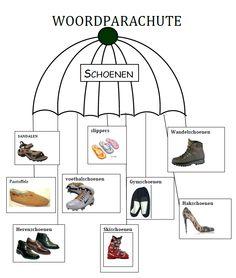 Woord parachute. Woordkluster. Schoenen. Dutch Language, Vans Top, Writing Inspiration, Spelling, School, Letters, Schools, Letter, Games