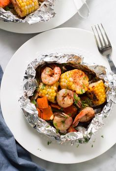 Just make clean up a total breeze with this Shrimp Veggies Foil Packets and have dinner on the table in 15mins! Enjoy this easy and healthy recipe!