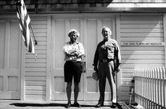 Donald Judd and Dan Flavin outside the Dan Flavin Art Institute, Bridgehampton, New York, 1983.    Photo courtesy of Stephen Flavin © 2009 Stephen Flavin/Artists Rights Society (ARS), New York; courtesy of David Zwirner, New York.