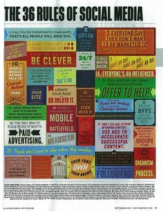 36 Rules of Social Media #SocialMedia #Rules - #Infographic