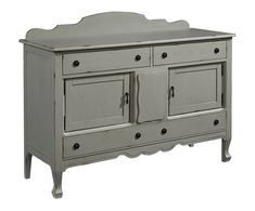 Not only good in a dining area this versatile French Inspired Sideboard looks great in a foyer or living space and of course it's perfect for the kitchen.  Where ever you put it, you will love its great storage and vintage Dove Grey finish.
