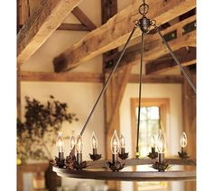Stanton Leaf Cup Chandelier.  I love this look for a rustic living room.
