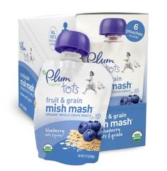 Plum Organics Tots Fruit and Grain Mish Mash, Blueberry, Oats and Quinoa, 3.17-Ounce Pouches (Pack of 12) - http://goodvibeorganics.com/plum-organics-tots-fruit-and-grain-mish-mash-blueberry-oats-and-quinoa-3-17-ounce-pouches-pack-of-12/