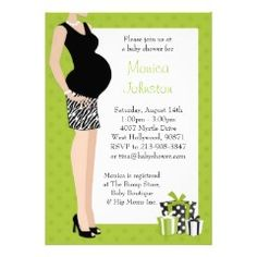 Modern mom-to-be baby shower invitation.