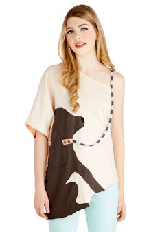 It's the Leash I Can Do Top, @ModCloth