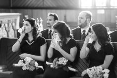 Maybe you didn't catch all of your bridesmaids crying during your vows, but Juniper Spring Photography did.