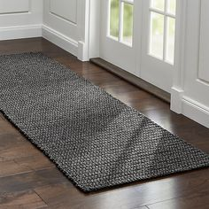 Shop Salome Charcoal Grey Indoor/Outdoor Rug Runner.  Constructed by skilled artisans in India, the Salome rug has a handcrafted, chunky look that brings a relaxed feeling to outdoor and indoor living spaces.