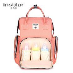 3PCS Baby Diaper Nappy Changing Bag Set Adjustable Straps Fits Any Pram FF