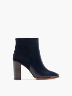 COMBINED BLUE ANKLE BOOT