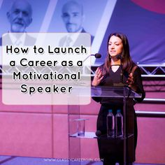 Speaking for a living is something that many people dream of, but few people actually achieve. http://www.classycareergirl.com/2016/03/motivational-speaker-career/