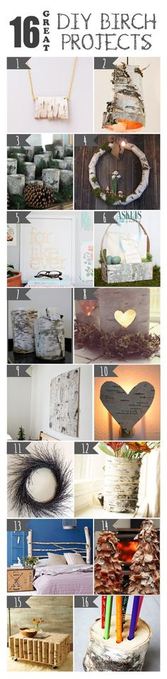 16 DIY Birch Projects                                                                                                                                                     More
