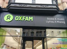 We've got shiney new #Oxfam signage so you can spot us more easily, via @OxBooksCardiff