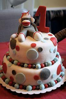 @Brianna Gray   Sock Monkey cake for Trenton!!! Too Cute!!
