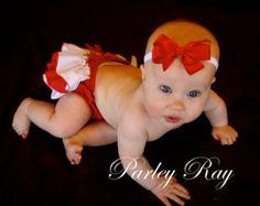 Hermosa marrón Chocolate y rosa con volantes Baby por ParleyRay