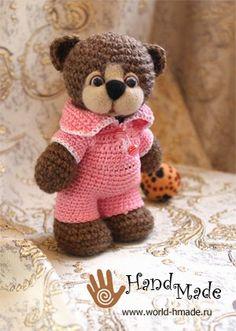 OS MELHORES ARTESANATOS: Urso com croche