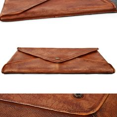 Leather 15 ''Macbook Sleeve Leather Wool Felt Case от MillionBag