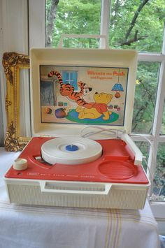 my very 1st record player...Winnie the Pooh!