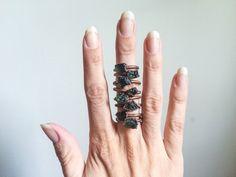 moldavite rings.