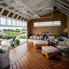 21 rolled up garage doors for a countryside living room - DigsDigs