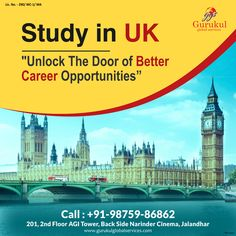 Immigration Services In Jalandhar Uk Post, Best Careers, Career Opportunities, Education System, Ielts, Study Abroad, Travel Posters, Big Ben, Taj Mahal