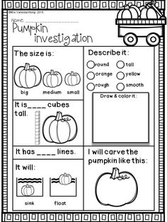 Pumpkin Worksheets for Kindergarten. 20 Pumpkin Worksheets for Kindergarten. Fall Activities for Kindergarten Math and Literacy No Prep Math Literacy, Preschool Math, Kindergarten Classroom, Kindergarten Activities, Kindergarten Printable Worksheets, Science Worksheets, Kindergarten Graduation, Worksheets For Preschoolers, Five Senses Kindergarten