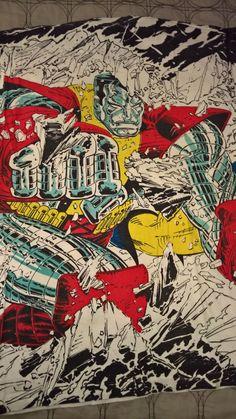 Vintage 90s Marvel Comics x Men Colossus Graphic Tee T Shirt John Romita, Jr. - Back