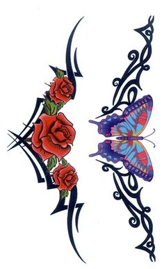 Resultado de imagen para lower back rose tattoos