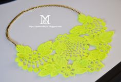 A Matter Of Style: DIY Fashion: Make a statement! Neon lace necklace tutorial