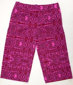Coldwater Creek Capri 12 Crop Stretch Pants Pink Natural Fit Alhambra 12 #ColdwaterCreek #CaprisCropped