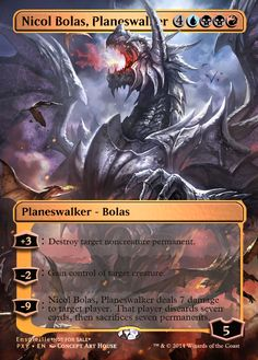 Magic the Gathering - Nicol Bolas, Planeswalker by ASliceOfUnagi