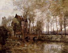 Jean-Baptiste Camille Corot (1796 - 1875): Le Château de Wagnonville