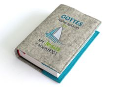 Büchertaschen - Gotteslobhülle Wollfilz ★ Mit Jesus in einem Boot - ein Designerstück von susannes-kreative-seite bei DaWanda