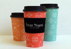 Bear Tracks Coffee #paper #cups