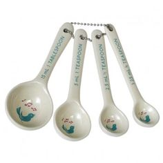 Set of 4 Songbird Measuring Spoons - from Mollie & Fred UK