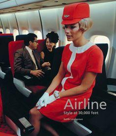 años 60, tripulante de cabina de pasajeros (azafata)