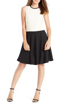 Petite Women's Lauren Ralph Lauren ColorblockCrepe Fit &