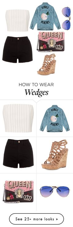 """""""West Coast Dreams"""" by elaine-bustos on Polyvore featuring Thierry Mugler, River Island, Charles by Charles David, Être Cécile and Dolce&Gabbana"""