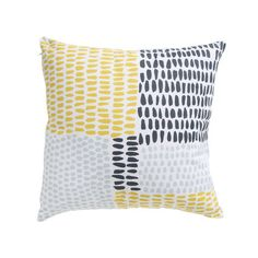 Milk and Sugar Cushion - Paint Dot Yellow. These cushions will look great outdoors.