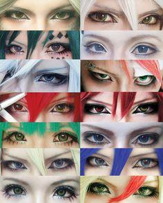 Cosplay eyes make up collection by ~mollyeberwein on deviantART