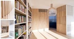 Oblúky v interiéri? Inšpirujte sa fantastickou rekonštrukciou parížskeho apartmánu, ktorý na malej výmere ponúka množstvo priehľadov a zážitkov, využitím zaoblených stien z masívneho dreva.