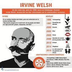 #IrvineWelsh para #ApuntesDeRabona  #Welsh #Trainspotting #Renton #Art #Cool #Arte #Infografía #Infographic #AcidHouse #Writer #Movies #Books #DannyBoyle