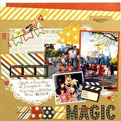 scrapbooking Disneyland layout. Simple Stories, We R Memory Keepers,