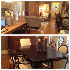 New tables, chairs, new everything in this redo....
